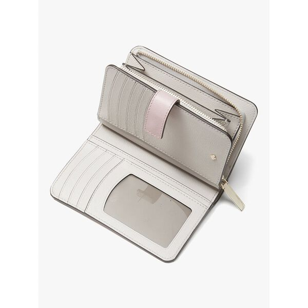 spencer compact wallet, TUTU PINK/CRISP LINEN, hi-res