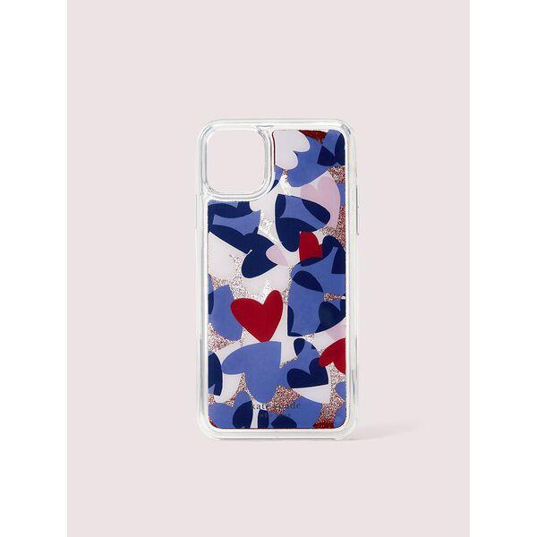 heart party liquid glitter iphone 11 pro max case