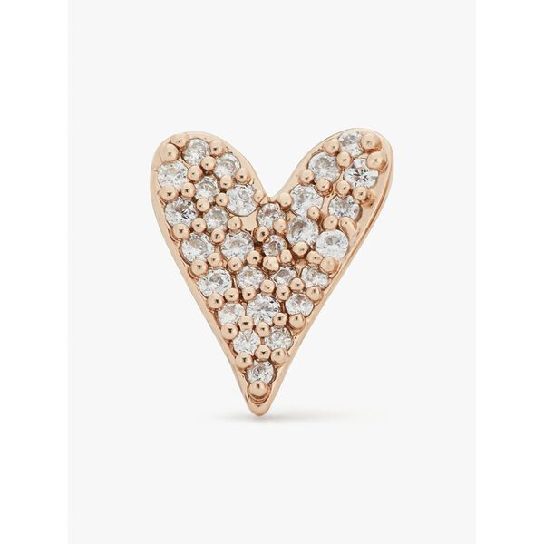 sweetheart studs, clear/rose gold, hi-res