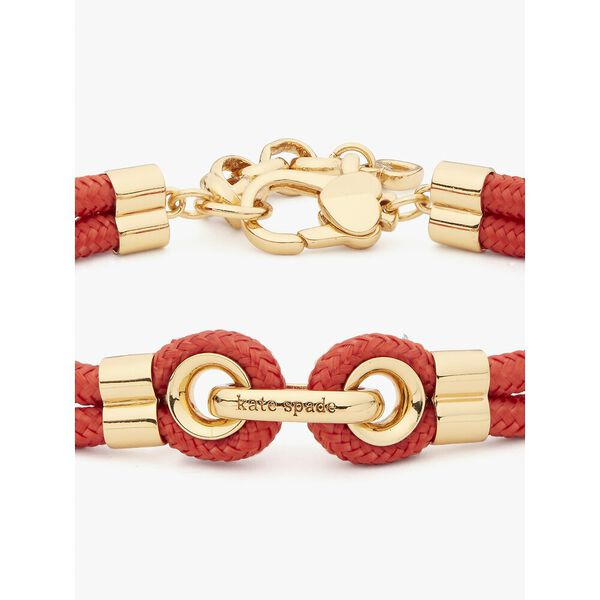 know the ropes cord bracelet, red, hi-res
