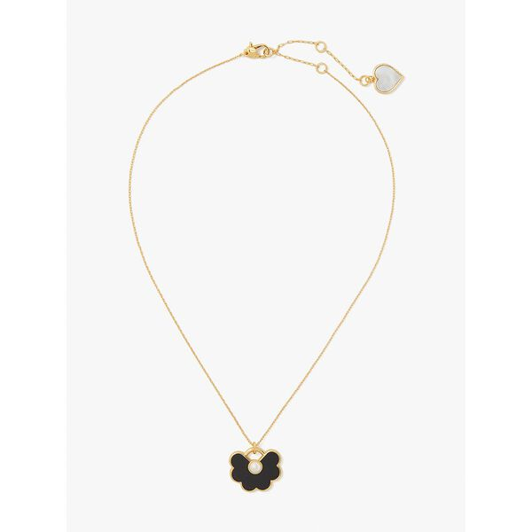 spade flower pendant, neutral multi, hi-res
