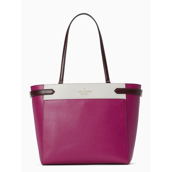 staci colorblock laptop tote
