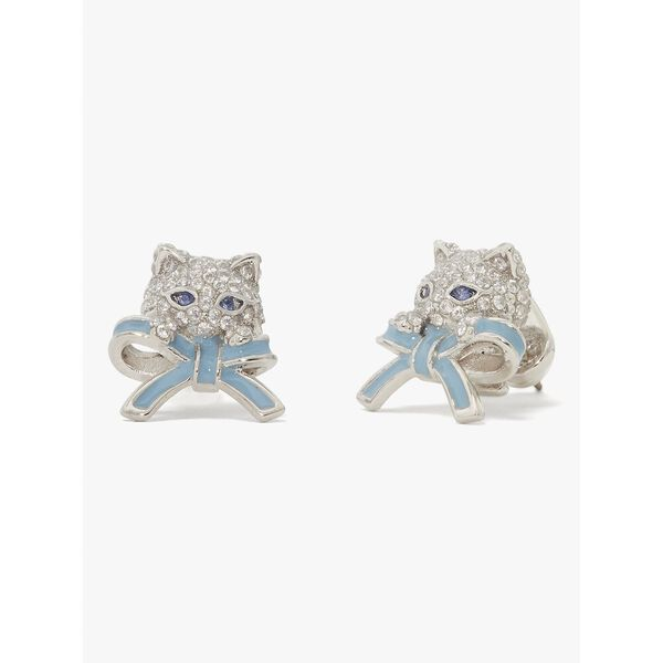 pretty kitty pavé studs