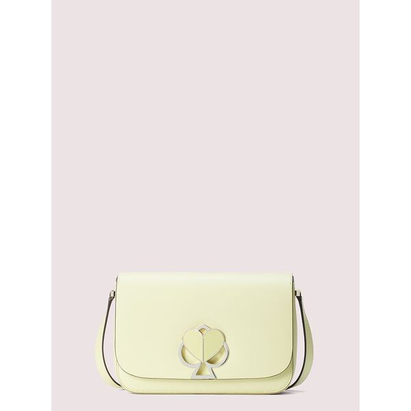 nicola twistlock medium shoulder bag, lemon sorbet, hi-res