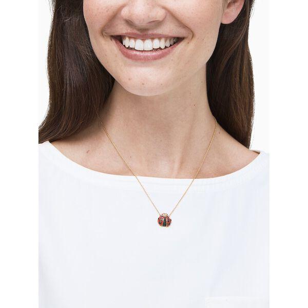 little ladybugmini pendant, RED MULTI, hi-res
