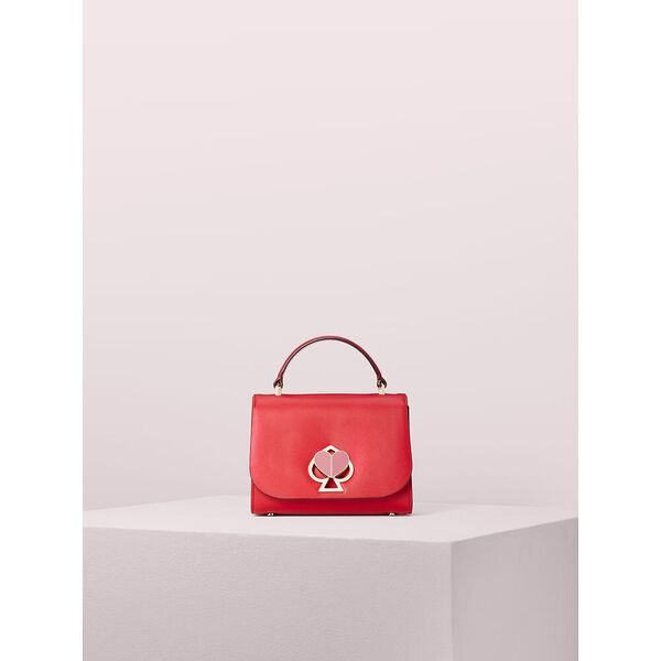 nicola twistlock small top handle bag, hot chili, hi-res