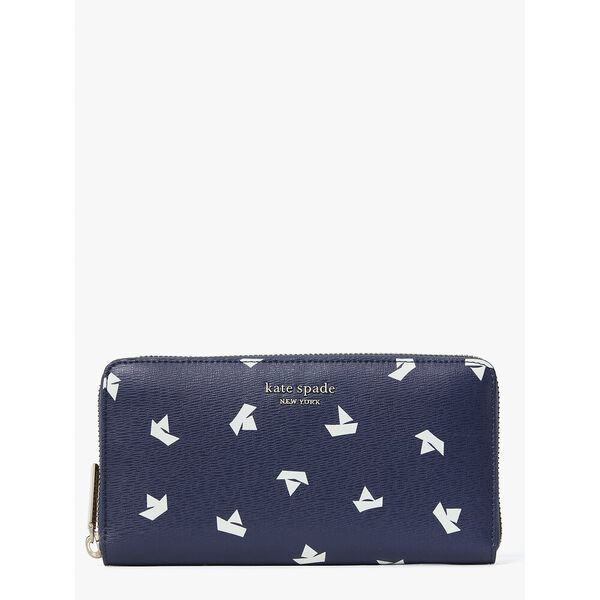 spencer paper boats zip around continental wallet