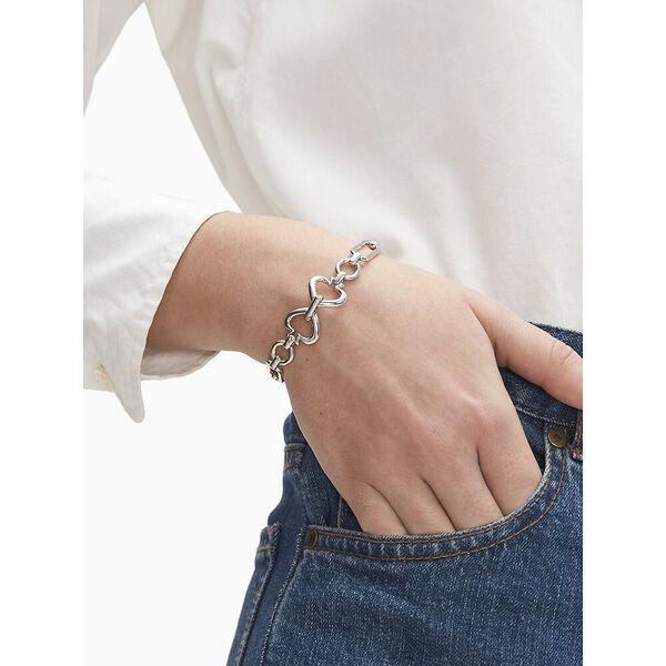 spade link bracelet, silver, hi-res
