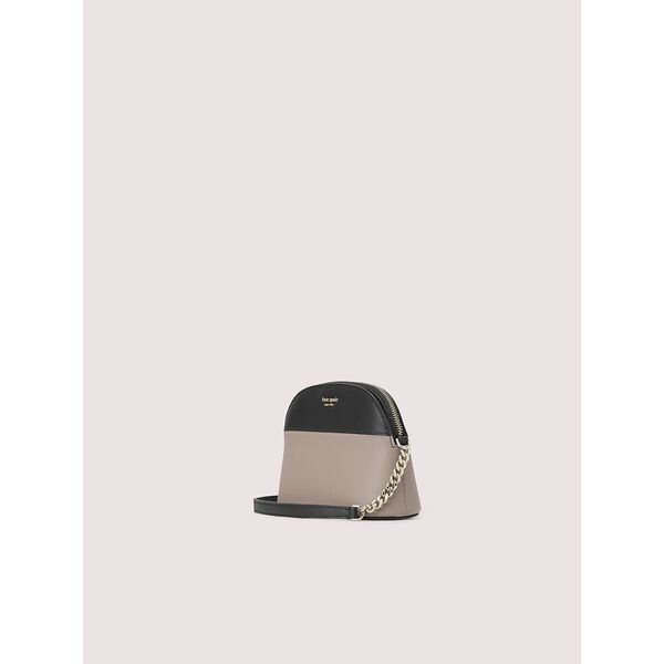 sylvia small dome crossbody, warm taupe/black, hi-res