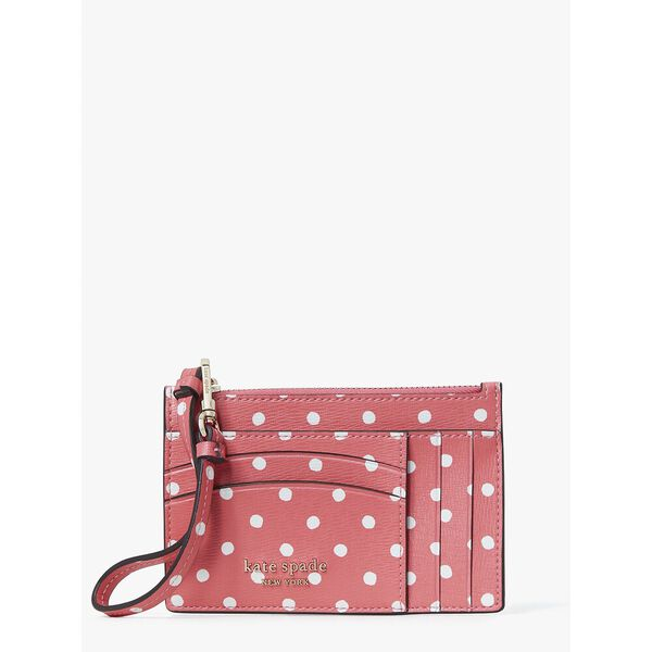 spencer dots cardholder wristlet