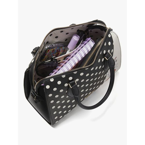 disney x kate spade new york minnie mouse medium satchel, black multi, hi-res
