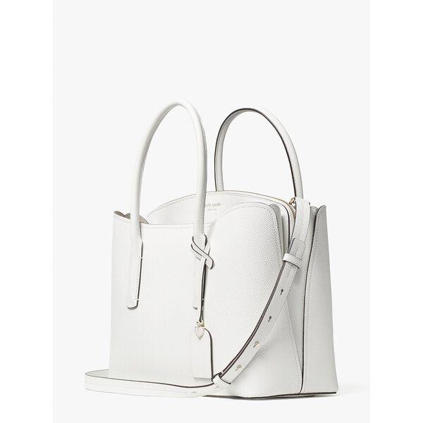 margaux large satchel, optic white, hi-res
