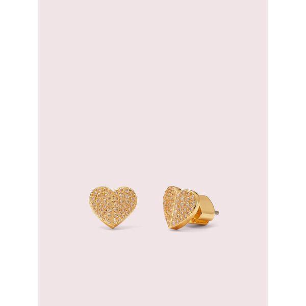 heart to heart pavé small heart studs