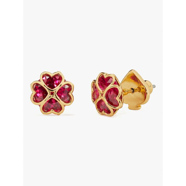something sparkly spade studs, ruby, hi-res