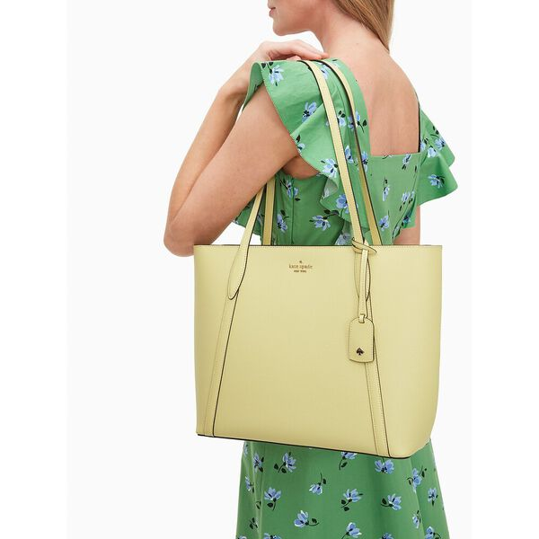 cara large tote, frosty lime, hi-res