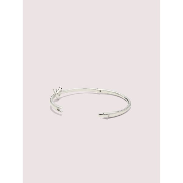 loves me knot bangle, silver, hi-res