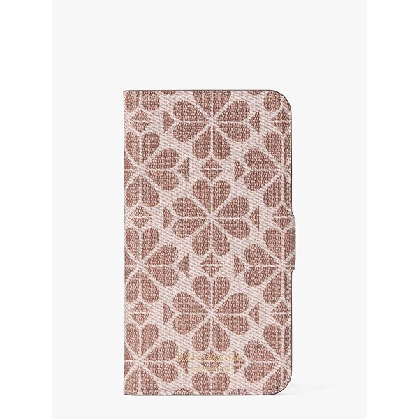 spade flower coated canvas iphone 11 pro magnetic wrap folio case, PINK MULTI, hi-res