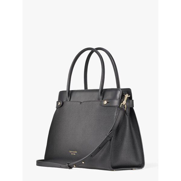 classic large satchel, black, hi-res