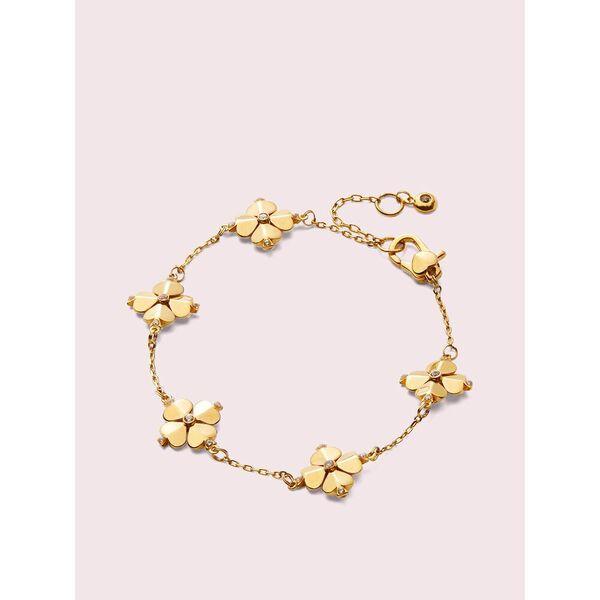 legacy logo spade flower bracelet, clear/gold, hi-res