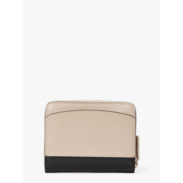 spencer small compact wallet, black/bright white, hi-res