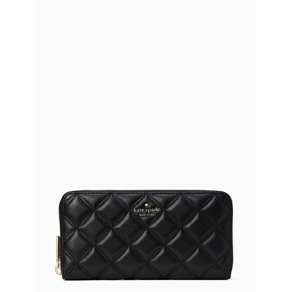 natalia large continental wallet black