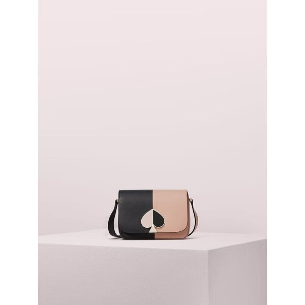 nicola bicolor small flap shoulder bag