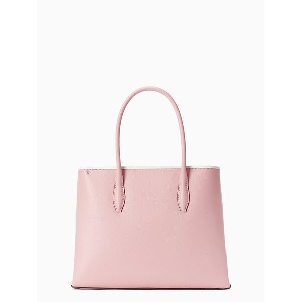 eva medium top zip satchel, BRIGHT CARNATION, hi-res