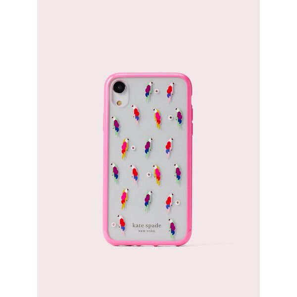 jeweled flock party iphone xr case, multi, hi-res