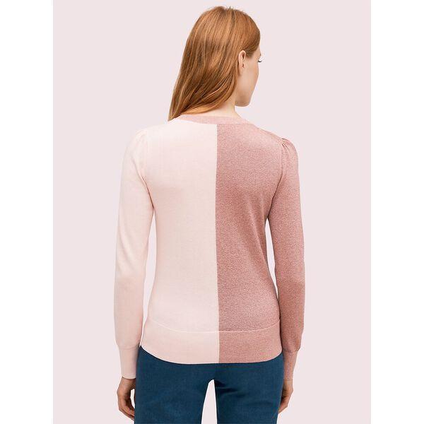 spade colorblock sweater, macaron pink, hi-res