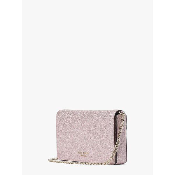spencer glitter chain wallet, rose gold, hi-res