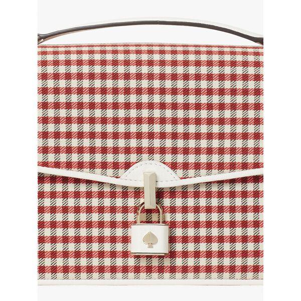 locket plaid large flap shoulder bag, multi, hi-res
