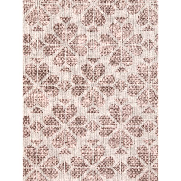 spade flower coated canvas compact wallet, pink multi, hi-res