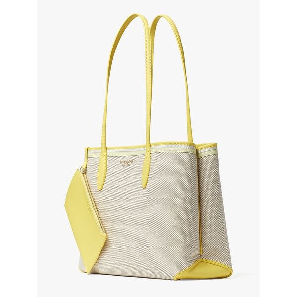 all day canvas large tote, yellow multi, hi-res