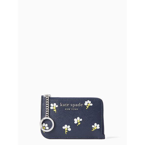 cameron daisy toss medium l-zip card holder