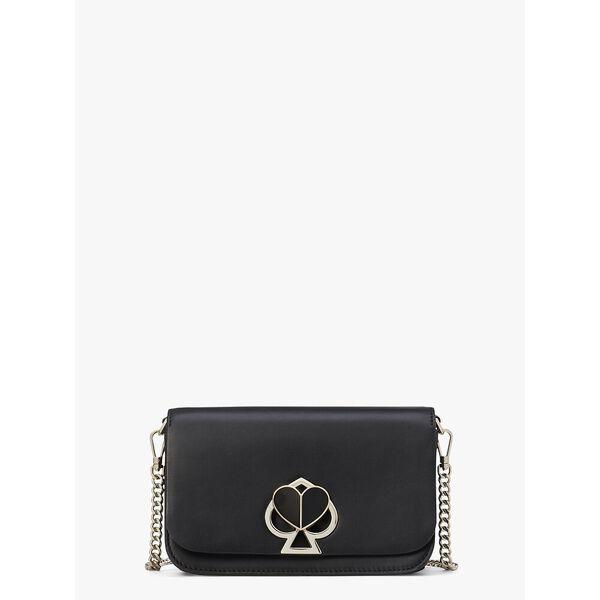 nicola twistlock medium sling bag, black, hi-res