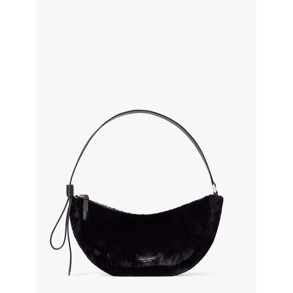smile faux-fur small shoulder bag