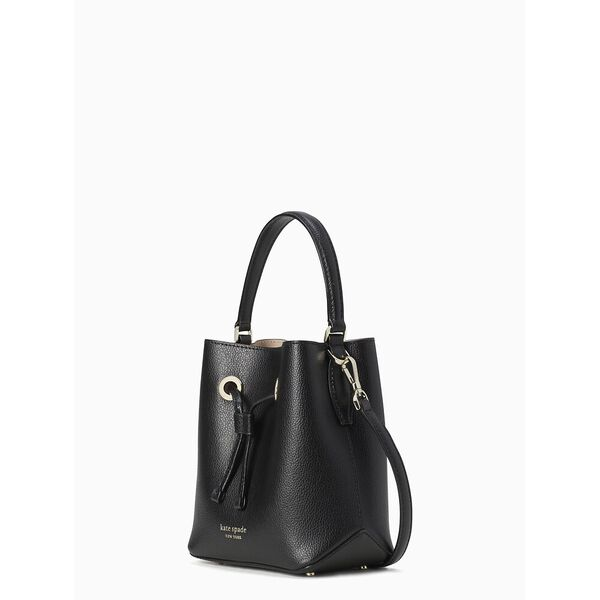 eva small bucket bag, black/warm beige, hi-res