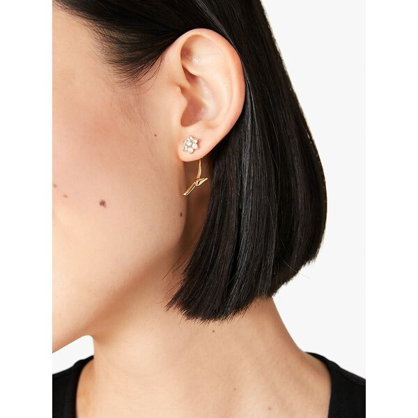 myosotis flower ear jacket, clear/gold, hi-res
