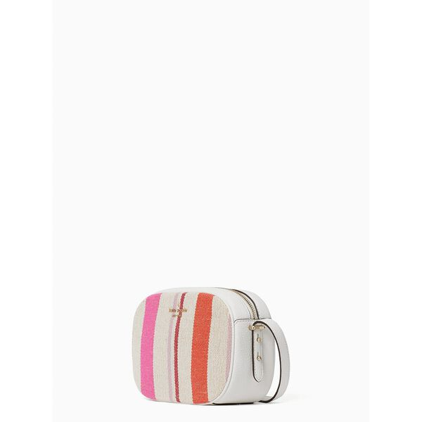 kourtney striped canvas camera bag, multi, hi-res