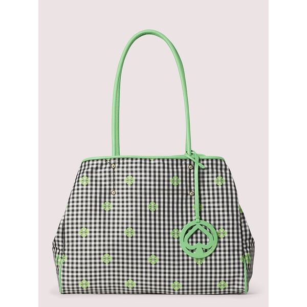 everything gingham large tote