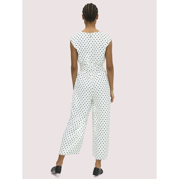 cabana dot jumpsuit, french cream, hi-res
