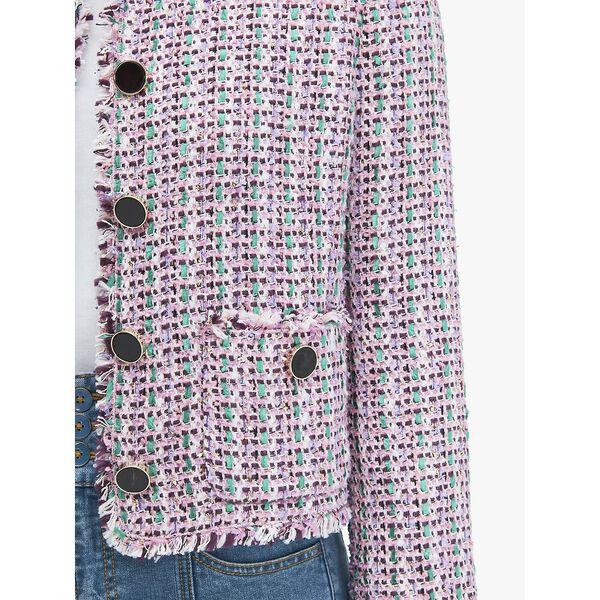 enchanted tweed jacket, CHKPNKMLTI, hi-res