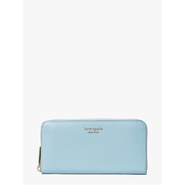 spencer zip-around continental wallet, teacup blue, hi-res