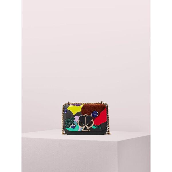 nicola beaded intarsia twistlock small convertible chain shoulder bag