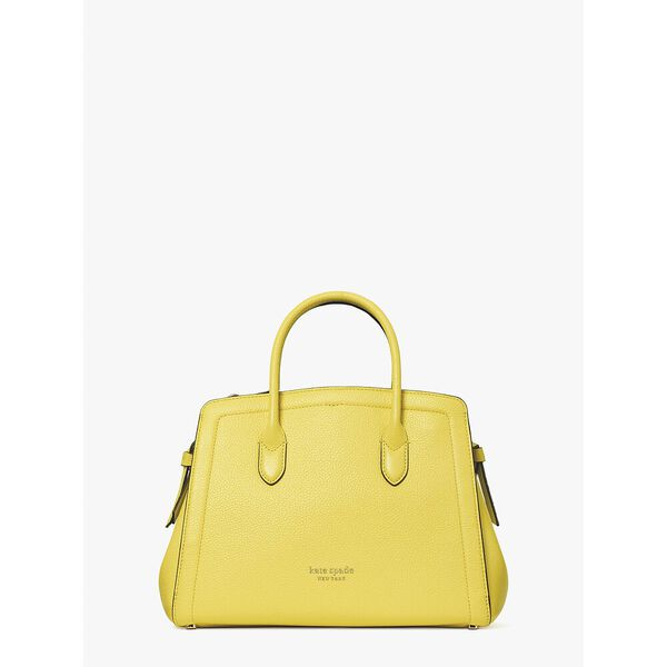 knott medium satchel, yellow sesame, hi-res