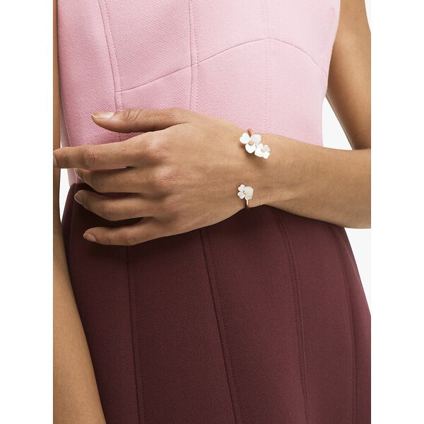precious pansy flex cuff, cream multi/rose gold, hi-res