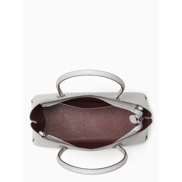 eva medium top zip satchel, nimbus grey, hi-res