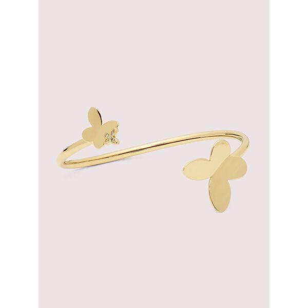 in a flutter flex cuff, clear/gold, hi-res