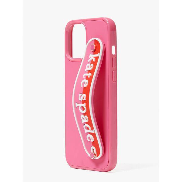 logo strap iphone 12 pro max case, multi, hi-res
