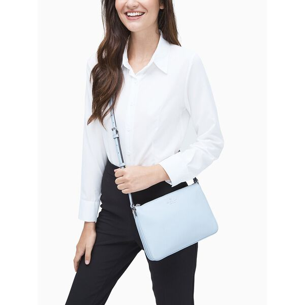 jackson triple gusset crossbody, frosted blue, hi-res